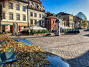 Wyludnione, opustoszałe ulice Krakowskiego Kazimierza, zazwyczaj tętniącgo  życiem turystycznego centrum Krakowa.