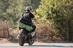 Riding from the Born Free Campground to the Born Free 8 Motorcycle Show at Oak Canyon Ranch. Silverado, CA, USA. Sunday, June 26, 2016.  Photography ©2016 Michael Lichter.