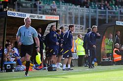 Bristol Rovers Manager, John Ward ushers the team forward  - Photo mandatory by-line: Dougie Allward/JMP - Tel: Mobile: 07966 386802 07/09/2013 - SPORT - FOOTBALL -  Home Park - Plymouth - Plymouth Argyle V Bristol Rovers - Sky Bet League Two