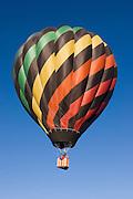 Hot air balloon in air at Taos Balloon Rally, Taos, NM<br />