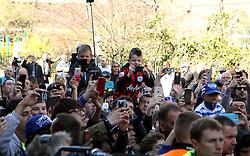 Fans take pictures of the Chelsea players arriving at Loftus Road - Photo mandatory by-line: Robbie Stephenson/JMP - Mobile: 07966 386802 - 12/04/2015 - SPORT - Football - London - Loftus Road - Queens Park Rangers v Chelsea - Barclays Premier League