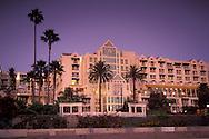 Evening light over the Loews Santa Monica Beach Hotel, Santa Monica, California