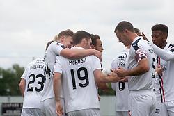 Falkirk's Bob McHugh cele scoring their first goal. Falkirk 6 v 1 Elgin City, Irn-Bru Challenge Cup Third Round, played 3/9/2016 at The Falkirk Stadium .