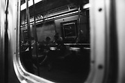 Saturday April 26th 2008. Brooklyn, New York. United States..In the Subway. .In the F Train from Brooklyn to Manhattan..