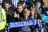 Sheffield Wednesday fans after their victory and ceiling play off place during the Sky Bet Championship match between Sheffield Wednesday and Cardiff City at Hillsborough, Sheffield, England on 30 April 2016. Photo by Phil Duncan.