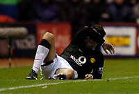 Fotball<br /> Premier League England 2004/2005<br /> Foto: SBI/Digitalsport<br /> 01.01.2005<br /> NORWAY ONLY<br /> <br /> Middlesbrough v Manchester United<br /> <br /> Manchester United's Christiano Ronaldo suffers an injury setback and leaves the field early.