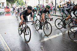 Annette Edmondson (AUS) of Wiggle Hi5 Cycling Team accelerates out of a corner during the Prudential Ride London Classique - a 66 km road race, starting and finishing in London on July 29, 2017, in London, United Kingdom. (Photo by Balint Hamvas/Velofocus.com)