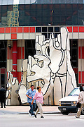 Jean DuBuffet's monument a la Bete Debout at the Thompson Center in front of the State of Illinois Building. Chicago Illinois USA