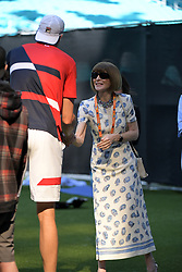 March 22, 2019 - Miami Gardens, Florida, United States Of America - MIAMI GARDENS, FLORIDA - MARCH 22:  John Isner, Anna Wintour on Day 5 of the Miami Open Presented by Itau at Hard Rock Stadium on March 22, 2019 in Miami Gardens, Florida..People: John Isner, Anna Wintour. (Credit Image: © SMG via ZUMA Wire)