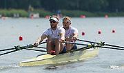 Poznan. Poland. GBR M2X, Bow: John COLLINS and Jonny WALTON, FISA 2015 European Rowing Championships. Venue Lake Malta. 29.05.2015. [Mandatory Credit: Peter Spurrier/Intersport-images.com] .   Empacher.
