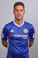 COBHAM, ENGLAND - AUGUST 11: Eden Hazard of Chelsea during the Official Portrait session at Chelsea Training Ground on August 11, 2016 in Cobham, England. (Photo by Darren Walsh/Chelsea FC via Getty Images)