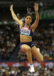 Great Britain's Abigail Irozuru during the Women's Long Jump