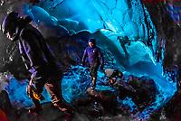 Mendenhall Ice Caves, Mendenhall Glacier, Juneau, Alaska USA.
