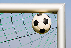 Dec. 05, 2012 - Football in corner of goalpost (Credit Image: © Image Source/ZUMAPRESS.com)