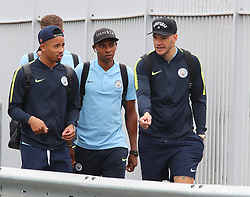 11818… The Manchester City team get the train to London on Saturday afternoon for the Arsenal match… Gabriel Jesus, Fernandinho and Ederson