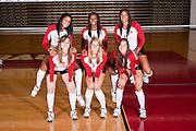 Photography of the 2011 Arkansas Razorback volleyball team.