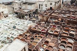 Tanneries of Chouwara, Fes al Bali medina, Fes, Morocco