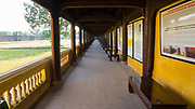 A walkway in the Citadel, Hue, Vietnam<br /> The area of the Imperial City where the The Queen and the King's concubines lived.