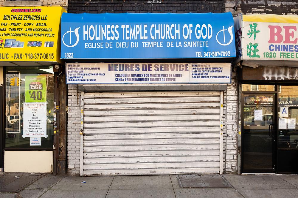 Holiness Temple Church of God / Eglise de Dieu du Temple de la Saintete, 1822 Flatbush Avenue, Brooklyn.
