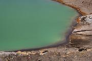 Volcanic lake at Tongariro crossing.