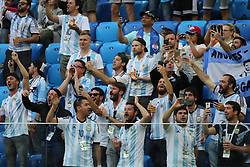 June 26, 2018 - St. Petersburg, Russia - June 26, 2018, Russia, St. Petersburg, FIFA World Cup 2018, First round, Group D, Third round. Football match of Nigeria - Argentina at the stadium of St. Petersburg. Player of the national team fans; viewers; fans; (Credit Image: © Russian Look via ZUMA Wire)