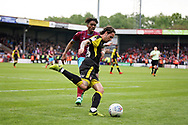 Rotherham United midfielder Ryan Williams (23) during the EFL Sky Bet League 1 match between Scunthorpe United and Rotherham United at Glanford Park, Scunthorpe, England on 12 May 2018. Picture by Nigel Cole.