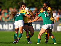 Rugby Union - 2017 Women's Rugby World Cup (WRWC) - Pool C: Ireland vs. Australia<br /> <br /> Ireland's Jenny Murphy tackles Australia's Grace Hamilton, at the UCD Bowl, Dublin.<br /> <br /> COLORSPORT/KEN SUTTON