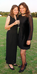Left to right, leading women polo players MISS PIPPA GRACE and her sister MISS VICTORIA GRACE, at a ball in London on 23rd July 1999.MUK 25