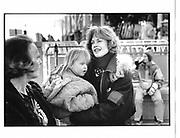 Melanie Griffiths and her daughter. Aspen. 1992. © Copyright Photograph by Dafydd Jones 66 Stockwell Park Rd. London SW9 0DA Tel 020 7733 0108 www.dafjones.com