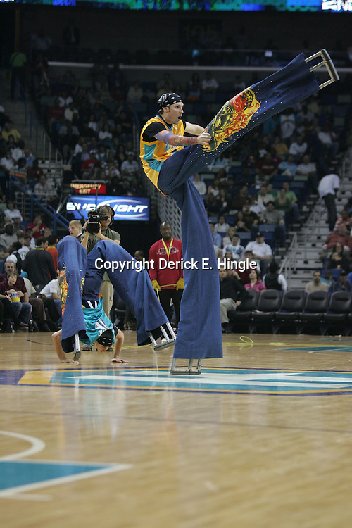 Halftime performance on February 22, 2008 at the New Orleans Arena in New Orleans, Louisiana.