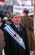 Survivor of the Auschwitz Nazi concentration camp attending the ceremony to mark the 60th anniversary of its liberation on the 27th of January 2005. It is estimated that between 1.1 and 1.5 million Jews, Poles, Roma and others were killed here in the Holocaust between 1940-1945.
