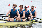 Poznan, POLAND, 21st June 2019, Friday, Morning Heats, USA M4- /1 (b) DETHLEFS Thomas, (2)HARRITY Conor, (3)RICHARDS Alexander and WALLIS Alexander,  FISA World Rowing Cup II, Malta Lake Course, © Peter SPURRIER/Intersport Images,<br /> <br /> 11:41:20