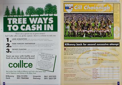 All Ireland Senior Hurling Championship - Final, .12.09.1999, 09.12.1999, 12th September 1999,.12091999AISHCF,.Senior Kilkenny v Cork,.Minor Galway v Tipperary, .Cork 0-13, Kilkenny 0-12,.Coillte