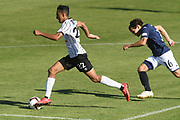 Hawke's Bay United Karan Mandair makes a break in the Handa Premiership football match, Hawke's Bay v Auckland, Bluewater Stadium, Napier, Sunday, January 20, 2019. Copyright photo: Kerry Marshall / www.photosport.nz
