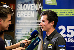 Jaka Lopatic, journalist and Primoz Roglic of Team Lotto NL Jumbo during press conference of 25th Tour de Slovenie 2018 cycling race, on June 12, 2018 in Hotel Livada, Moravske Toplice, Slovenia. Photo by Vid Ponikvar / Sportida