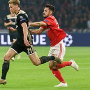 NLD/Amsterdam/20181023 - Champions Leaguewedstrijd  Ajax - SL Benfica, nr.21 Frenkie de Jong
