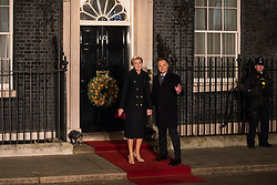 London, UK. 3 December, 2019. Andrzej Duda, President of Poland, arrives with his wife Agata Kornhauser-Duda for a reception for NATO leaders at 10 Downing Street on the eve of the military alliance's 70th anniversary summit at a luxury hotel near Watford.
