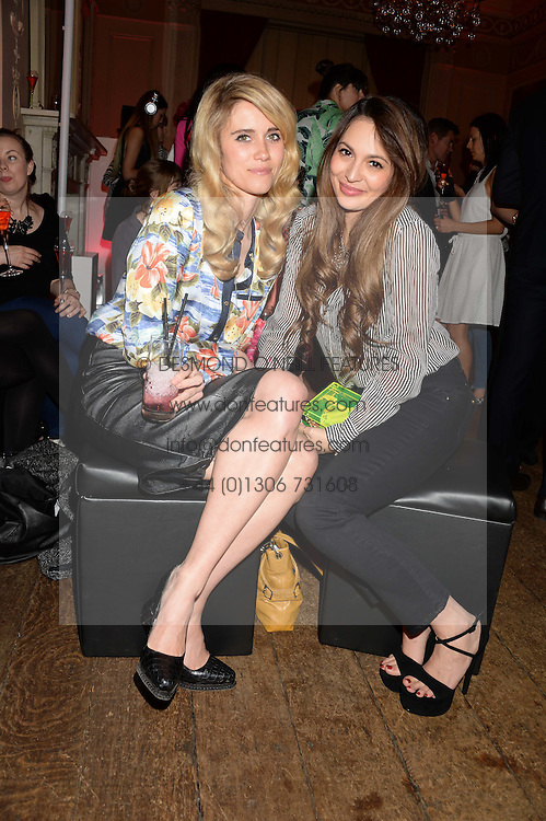 Left to right, JADE WILLIAMS and ZARA MARTIN at the Juicy Couture - Viva La Juicy perfume Party held at Home House, Portman Square, London on 30th May 2013.