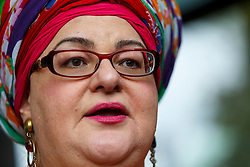 © Licensed to London News Pictures. 15/10/2015. London, UK. Camila Batmanghelidjh leaving Portcullis House after giving evidence on Kids Company to the Commons Public Administration Committee in London on Thursday, 15 October 2015. Photo credit: Tolga Akmen/LNP