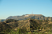 Hollywood Sign Situated on Mount Lee in Hollywood Hills California
