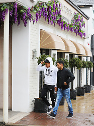 Manchester United's Jesse Lingard and his best mate Sunny head to Victor's Eatery in Hale Village, Cheshire  for lunch on Friday afternoon.