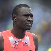 David Rudisha, Kenya, in action winning the Men's 800m  race at  the Diamond League Adidas Grand Prix at Icahn Stadium, Randall's Island, Manhattan, New York, USA. 25th May 2013. Photo Tim Clayton