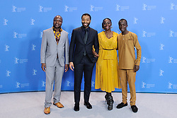 William Kamkwamba, Chiwetel Ejiofor, Aissa Maiga and Maxwell Simba attending The Boy Who Harnessed The Wind Photocall as part of the 69th Berlin International Film Festival (Berlinale) in Berlin, Germany on February 12, 2019. Photo by Aurore Marechal/ABACAPRESS.COM