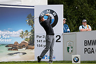 Rory Mcllroy tees off on the 2nd hole during the Celebrity Pro-Am day at Wentworth Club, Virginia Water, United Kingdom on 23 May 2018. Picture by Phil Duncan.