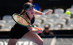 January 8, 2019 - Sidney, AUSTRALIA - Jelena Ostapenko of Latvia in action during her first-round match at the 2019 Sydney International WTA Premier tennis tournament (Credit Image: © AFP7 via ZUMA Wire)