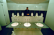 LONDON, ENGLAND..Covent Garden, Royal Opera House. Gents' room at Vilar Floral Hall..(Photo by Heimo Aga)