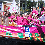 NLD/Amsterdam//20170805 - Gay Pride 2017, Boot Pink Marakech