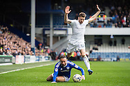 Ashley Richards (6) of Cardiff City, Jamie Mackie (12) of Queens Park Rangers during the EFL Sky Bet Championship match between Queens Park Rangers and Cardiff City at the Loftus Road Stadium, London, England on 4 March 2017. Photo by Sebastian Frej.