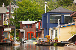 North America, United States, Washington, Seattle, Lake Union, houseboat community