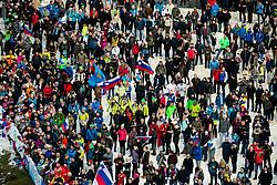 Supporters during 1st Round at Day 1 of World Cup Ski Jumping Ladies Ljubno 2019, on February 8, 2019 in Ljubno ob Savinji, Slovenia. Photo by Matic Ritonja / Sportida